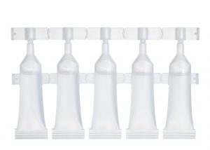 Strips of 5 single-dose vials of 5 ml Lameplast