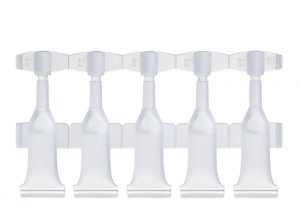 Strips of 5 single-dose vials of 0.6 ml Lameplast