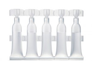 Strips of 5 single-dose vials of 3 ml Lameplast