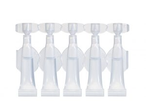 Strips of 5 single-dose vials of 2 ml Lameplast